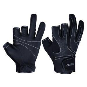 3 Cut Finger Fishing Gloves Anti-slip Breathable Outdoor Sports Summer Gloves