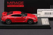 Nissan R35 GT-R  Premium - Solid Red -- HPI 1/43 #8320 Resin