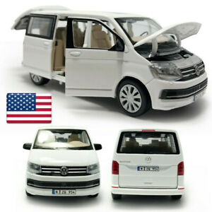 1:32 VW T6 Multivan MPV Model Car Diecast Toy Vehicle Collection Kids Gift White