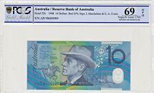1998 $10 Dollar Bank Note *RED SERIALS* Macfarlane/E.A Evens PCGS 69 Superb GEM