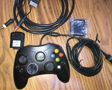 Xbox Controller S Original Gamepad + Audio Video Out cable + Memory Unit + Scart