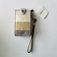 Coach Leather Apple iPod Case Leather Wristlet Strap NWT