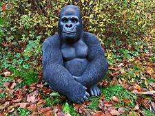 More details for silverback gorilla by vivid arts, stunning life like home & garden ornament.