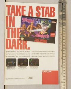 Magic Sword Super Nintendo RARE Print Advertisement