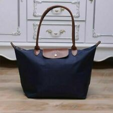 Auth New Longchamp New Le Pliage Nylon Tote Handbag Navy Blue Large