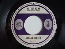 """Marianne Faithfull As Tears Go By US Import London 1964 7"""" Vinyl Single"""