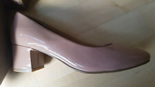 M&S Collection Insolia Wide Fit Size 4 Nude Beige Low Block Heel