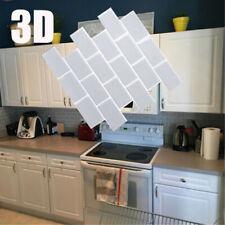 3D Self-Adhesive Kitchen Wall Tiles Bathroom Mosaic Tile Stickers Peel & Stick