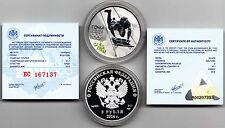 Russia 3 rubles , Sochi 2014 Silver coins  in box