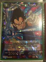Deadly Defender Vegeta BT5-034 Rare Dragon Ball Super Card Mint