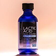 2 oz LACTIC Acid Skin Peel- 40% - For: Acne, Scars, Wrinkles, Melasma, Age Spots