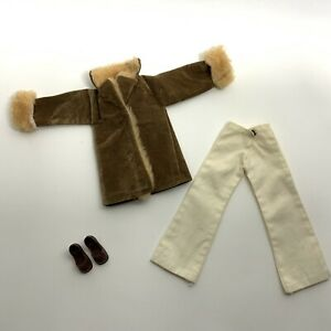 Vintage 1970's Pedigree Sindy Doll Clothes - Out Of Town Set Coat Trousers Shoes