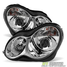 2001-2007 Mercedes C-Class W203 C240 C320 C32 Projector Headlights Halogen Model