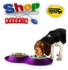 Silicone Pet Feeding Mat Non Slip Pet Food Placemat for Dog Cat with SS Bowls