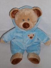 "2010 TY PLUFFIES 10"" Plush PJ BEAR BLUE Pajamas Love to Baby Tylux Beanie Teddy"