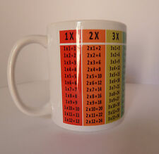 Times Tables Mug Cup Gift Present Maths Mathematics Teacher Student Table School