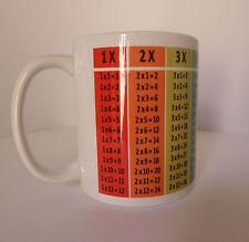 Times Tables Mug Cup Gift Present Maths Mathematics Teacher Student Table School