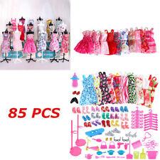 85 Stück Artikel für Barbie-Puppen Kleider Schuhe Schmuck Kleidung Set Zubehör