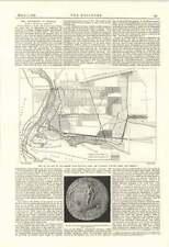 1895 Niagara Falls Map Station Powerhouse Sluice Bridge Conductors
