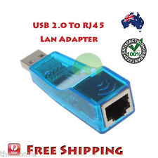 USB 2.0 to RJ45 LAN Ethernet Network Adapter Plug Cable 100Mbps for PC Linux AU