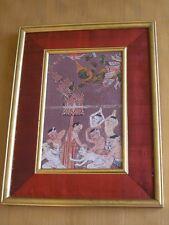 18 C. Thai Hindu Guache Manuscript Painting Mythological Angels Demons Ramakien