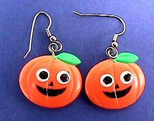 Hallmark EARRINGS Halloween Vintage PUMPKINs JOL Dangle Holiday Jewelry