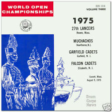 1975  World Open 3 Drum Corps CD 27th Lancers, Muchachos, Garfield Falcon Cadets