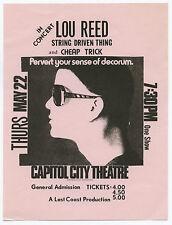 Lou Reed String Driven Thing Cheap Trick Original 1975 Concert Handbill / Flyer