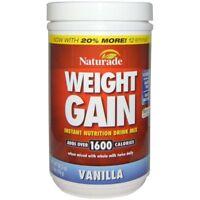 NATURADE WEIGHT GAIN WHEY PROTEIN SHAKE GLUTEN FREE NUTRITION ENERGY 20.3 oz