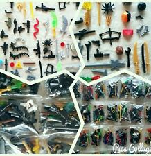(3) Lego Compatible Accesories and Weapons Bags. Ships from USA!!! Minifigs