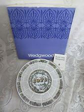 1971 Wedgwood Calendar Plate Cherubs Original Box