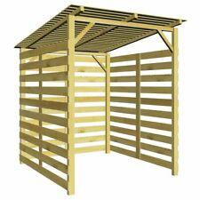 vidaXL Garden Firewood Storage Shed Impregnated Pinewood Patio House Cabin