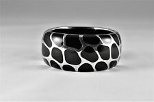 Angelique de Paris Safari Wide Bracelet Sterling Cuff Bracelet $840 New