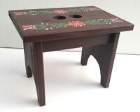 Tabouret en bois avec peint à la main motif fleur enfants Tabouret,pas à