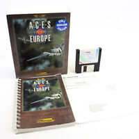 """Aces Over Europe for PC 3.5"""" in Big Box by Sierra On-Line, 1993, VGC, CIB"""