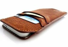 Genuine Natural leather case for iphone 5s 5c wallet cover handmade Slim design