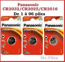 Piles boutons Panasonic 3V lithium CR2032/CR2025/CR2016, livraison gratuite !