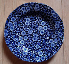 """Burleigh Calico Blue white side plate 7""""D small plate"""