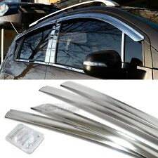 Stainless Chrome Window Sun Vent Visor Molding 4P For RENAULT 2010-2016 Fluence