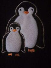 Nick & Nora Penguin One Piece Black Fleece Footed PJs Pajamas - Women's S - BB58