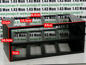 ETAGERE collection plastique neuve en boite : 12 voitures 43cm * 18.5cm