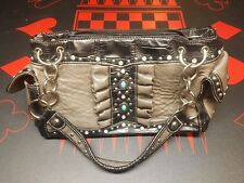 Montana West Purse Black and Silver with turquoise and Clear Studs