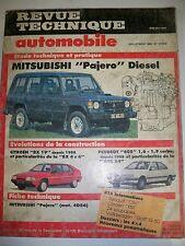MITSUBISHI Pajero (CITROËN BX 4X4 PEUGEOT 405 X4) -  Revue Technique Automobile
