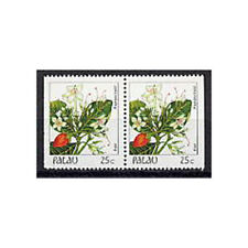 PALAU, Sc #133a, MNH, 1987, Booklet pair, Flowers, Flora, Plants, GIAW6