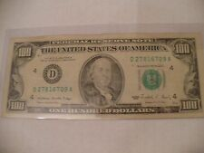 $100 DOLLAR FED RESERVE NOTE-SERIES 1988-SMALLHEAD - NOT MADE ANYMORE