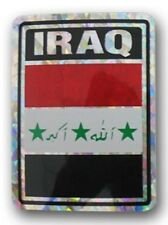 Wholesale Lot 12 Iraq Country Flag Reflective Decal Bumper Sticker