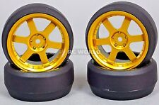 RC 1/10 DRIFT WHEELS Package 0 Degree 3MM Offset 6 Spoke GOLD