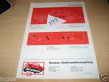 Peugeot 504,  Terotex Hohlraumversiegelungsplan