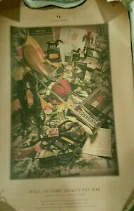 HOF Jockey PAT DAY 2005 Churchill Downs print lithograph w tube