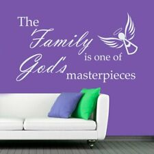 Family Masterpiece Valentines Day Design Bedroom Home Wall Decor Sticker White